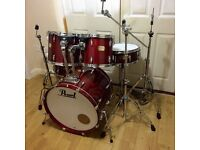 Fully Refurbished Pearl Export Drum Kit // Lacquer Finish // Free Local Delivery