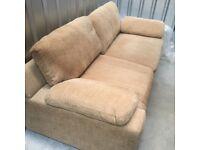 Beige Chenille 3 seater sofa