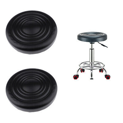 2Pcs/set Round Leather Bar Stool Replacement Chair Seat Tops 32x5cm Black Black Round Top Stool