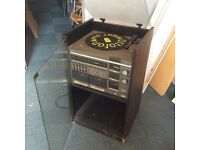 Sanyo record player tape decks cabinet hi fi spares or repairs