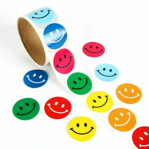 1 piece of Smiley Expression Stickers Adhesive Tape Round Shape