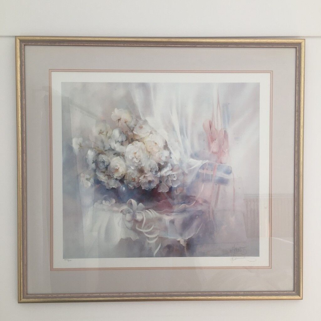 Willem Haenraets 'Eye Pleasing' Framed Signed Limited Edition Print, Flowers and Ballet Shoes