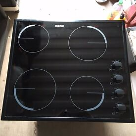 "Electric Hob, Zanussi, only two months old, in ""as new"" condition"
