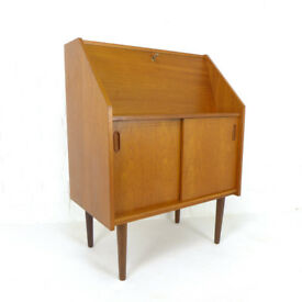 Danish Mid Century Desk / Writing Bureau by Steens DELIVERY POSS Teak 1960's Retro Vintage Laptop