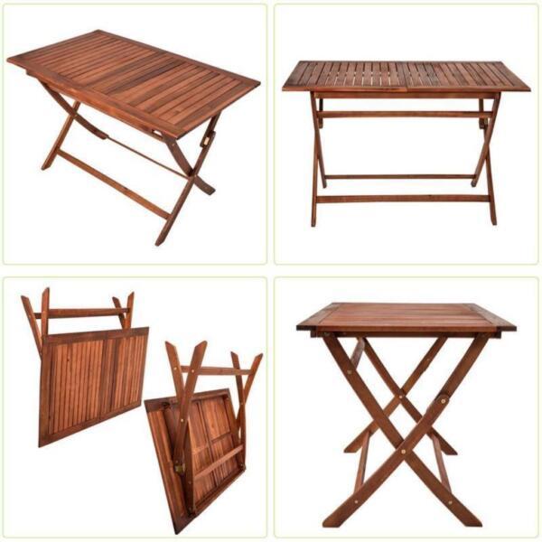 1 Tisch 120 x 70 Gartenmöbel Holztisch Holz Gartentisch Balkon in ...