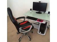 Computer desk and chair (does not include pc or monitor)