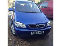 Vauxhall zafira 16 breeze 2005 129,000 miles £1,250
