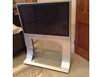 Panasonic plasma 36 inch TV complete with glass and metal stand