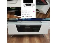 Nearly new white gloss tv stand