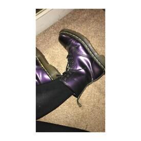 Metallic purple Doc Martens- Size 5 🦋