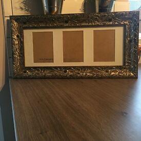 Gold print aperture frame
