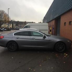 BMW 640 d grand coupe 4 door grey