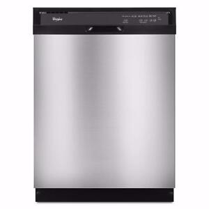 Lave-vaisselle stainless 24'', 14 couverts, très silencieux, Whirlpool