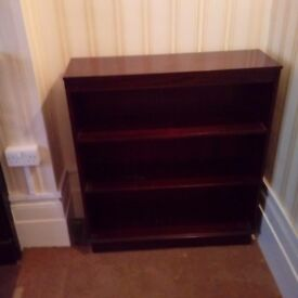 Small dark wood bookcase