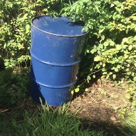 Empty 205 litre oil drums ideal BBQ or burning bin
