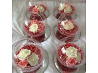 Wedding centerpieces with mirror bases (Price Reduced)