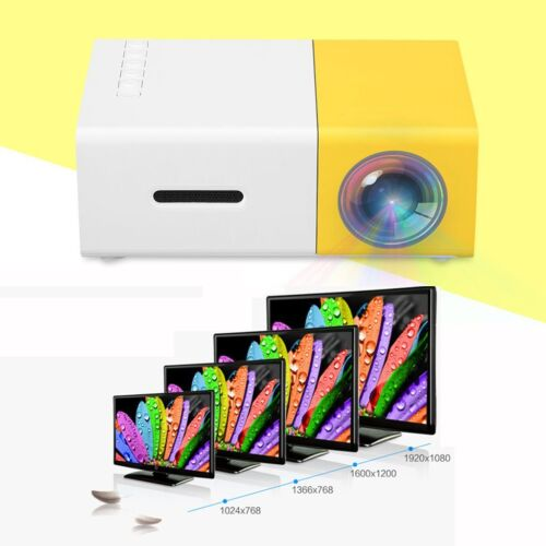 Mini 3D Beamer Full HD 1080P LED/LCD Projektor Heimkino VGA AV TV HDMI USB SE SP