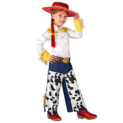 Disney Store Toy Story Jessie Cowgirl 2pc Costume Pants + White Shirt NEW - Jessy Costume