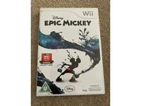 Nintendo Wii game- Disney Epic Mickey. Used perfect condition