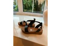 black New Look ankle strap sandals