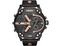Diesel Mr. Daddy 2.0 Black Mens Watch DZ 7350 Brand New with tags RRP £349