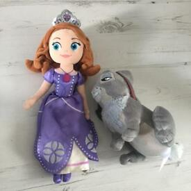 Disney Store Sofia the First plush toy bundle
