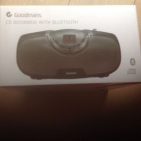 Goodmans CD boombox with Bluetooth