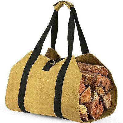Wicker Log Korb Aufbewahrung Protokolle Brennholz Kamin Holz Carrier Bag ()