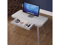 Bell'O Premium Aluminium and Glass Desk, Display Unit at Half Price - New, Free Delivery