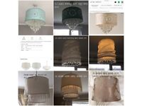 Various household lampshades Laura Ashley duck egg