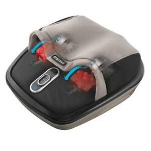 New Unbox HoMedics Shiatsu AirMax Rolling Rejuvenate Foot Deep Massager With Heat Air Max Gently 3 programmable speed se