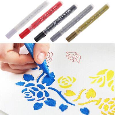 Acrylic Paint Marker Pens For Glass Metal Ceramic Porcelain Rock Wood Fabric Porcelain Paint Pens