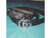 Men's Gucci & Louis Vuitton Belts