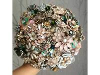 Wedding Bouquet BRAND NEW HANDMADE - made from brooches and jewellery