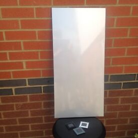 Metal noticeboard in silver finish for magnetic items