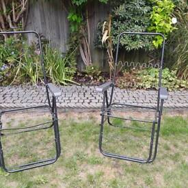 Reclining garden chair frames