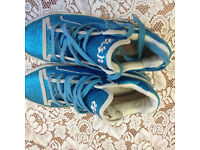 Brand new blue sparkling trainer in very good condition
