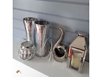 SET OF LOVELY SILVER ORNAMENTS