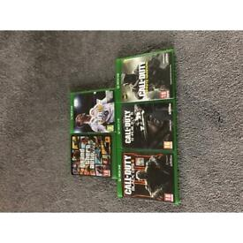 XBOX Games -GTA V - FIFA 18 - COD BLACK OPS 3 -COD INFINATE WARFARE - COD GHOSTS
