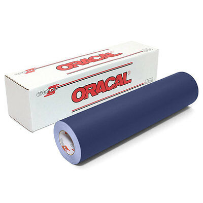 ORACAL 631 DARK BLUE Adhesive Backed Matte Vinyl 12in x 10ft Roll