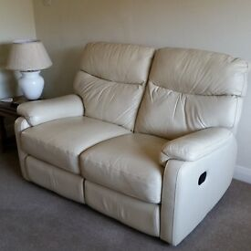 3 & 2 seater leather recliners for quick sale