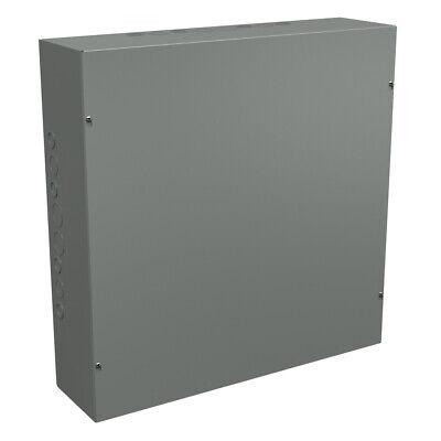 24x24x6 Steel Electrical Enclosure Box Nema 1 Contactor Cover 24 Inch 6 Deep