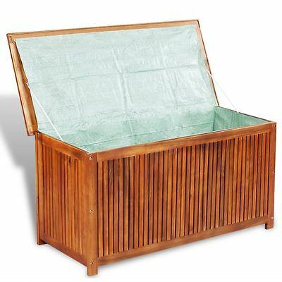 Outdoor Patio Garden Acacia Wood Storage Deck Box Chest Pool Yard Lawn Furniture
