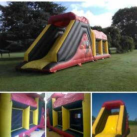 Obstrcle Course and bouncy castles