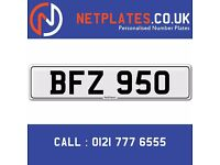 'BFZ 950' Personalised Number Plate Audi BMW Ford Golf Mercedes VW Kia Vauxhall Caravan van 4x4