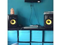 KRK Rokit 8 studio monitors (pair)