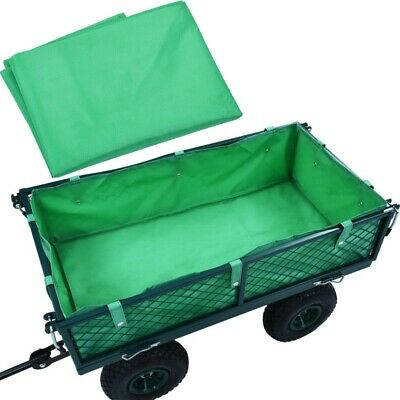 Foldable Garden Trolley Cart Wagon Liner - Green Utility Fabric Outdoor