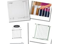 !!!NEW BOXED METAL SAFTY GATES !!! Safety 1st Pressure Fit And Babystart Auto Close. !!NEW!!