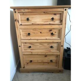 Pine Drawers - 4 drawers