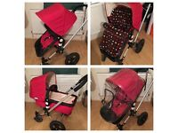 Bugaboo Frog Pram, Bassinet & Accessories. RRP£400